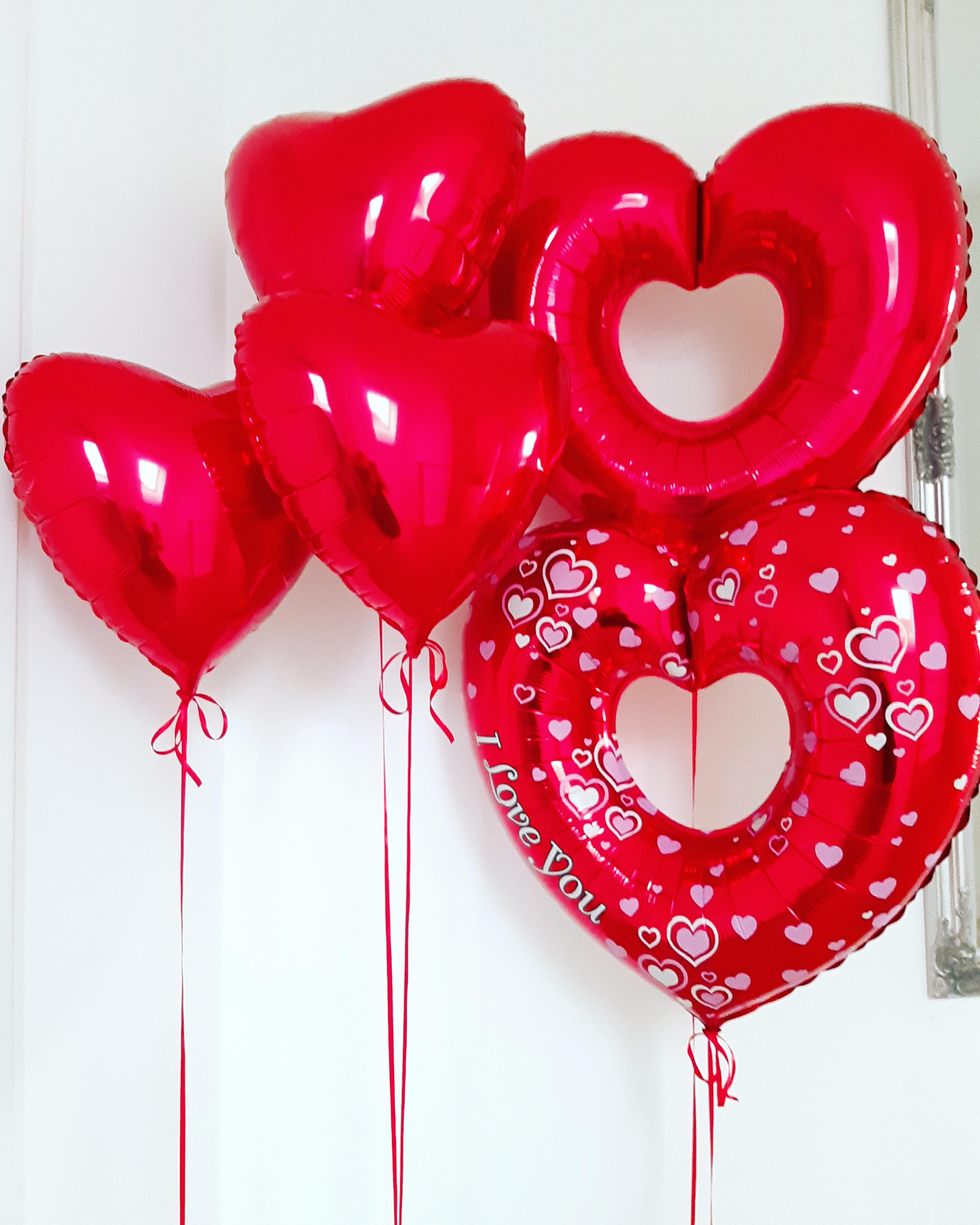 balony serca razem